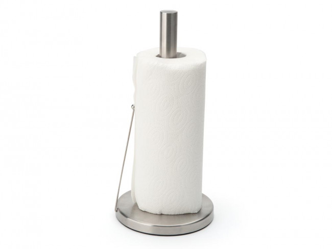 Kitchen roll holder with roll brake