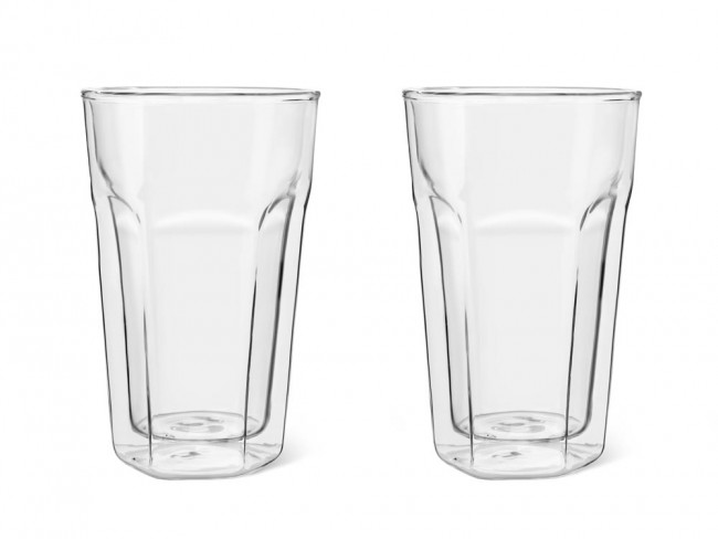 Double w. glass Latte Macchiato 280ml s/2