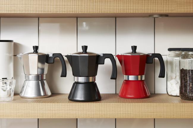 Espresso maker Tivoli 6 cups red