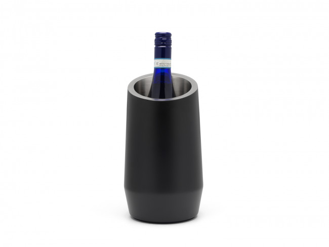 Bottle cooler double walled matt black