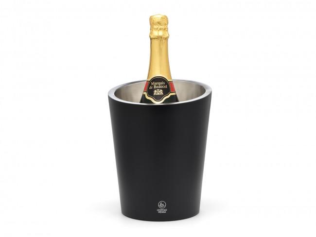 Champagne cooler double walled matt black