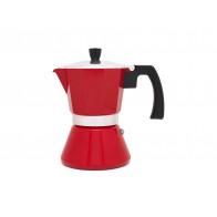Espresso maker Tivoli, red 6 cups (all heat sources, except gas)