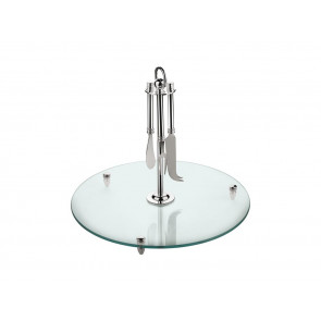 Serving tray glass with knives sp
