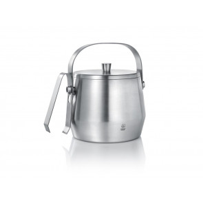 Ice bucket 1,0L with lid and tongs