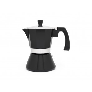 Espresso maker Tivoli black 6cups with induction
