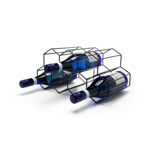 Wine rack black