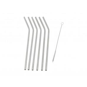 Straws 6-pcs s/s + cleaning brush