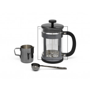 Glass for coffee & tea maker set Shiny black and Copper LV113013 and LV113014