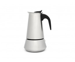 Espresso maker Trevi for 6 cups, matt stainless steel